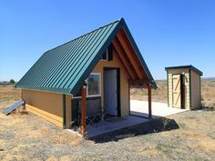 | Andrew's Desert Tiny Cabin | A 171 square feet off-grid cabin in the high desert in an undisclosed location. Owned and shared by Andrew Cox.  ~ click on photo or more ~