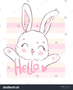 Find Hand Drawn Cute Cartoon Bunny Print stock images in HD and millions of other royalty-free stock photos, illustrations and vectors in the Shutterstock collection. Cute Bunny Cartoon, Baby Cartoon, Bunny Drawing, Bunny Art, Cartoon Drawings, Easy Drawings, Felt Halloween Ornaments, Doodle Art Designs, Cute Puns
