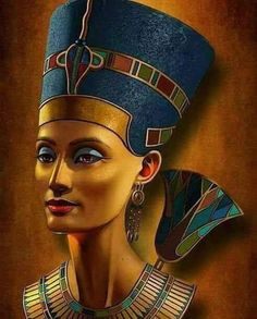 This is like a photoshopped rendition of the original bust. Egyptologists were unable to locate Nefertiti's tomb for years after the tomb of Tutankhamun was discovered. In 2015, Dr. Nicholas Reves of the University of Arizona announced that the tomb of the Queen may have been found and may have been buried secretly inside the tomb of Tutankhamun, as the tests showed that there may be an entrance in the tomb of Tutankhamun. And that this section may lead to the burial place of Queen Nefertiti