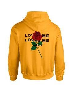 Love me not flower Back Hoodie