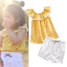 $5.12 (Buy here: https://alitems.com/g/1e8d114494ebda23ff8b16525dc3e8/?i=5&ulp=https%3A%2F%2Fwww.aliexpress.com%2Fitem%2FSummer-Toddlers-Outfit-Children-Baby-Girl-Clothing-Set-Yellow-T-shirt-White-Shorts-Clothes%2F32777537672.html ) Summer Toddlers Outfit Children Baby Girl Clothing Set Yellow T-shirt + White Shorts Clothes for just $5.12