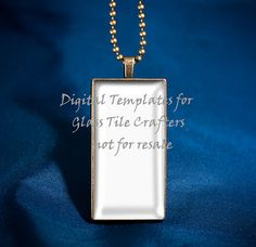 Digital Template for 1 x 2 inch Antique Gold by GlassTileTemplates