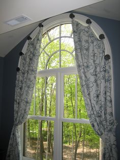 See more window coverings and window treatments at bed bath & beyond. Arched Window Coverings, Curtains For Arched Windows, Panel Curtains, Curtain Panels, Arch Windows, Shop Windows, Big Windows, Diy Curtains, Half Moon Window