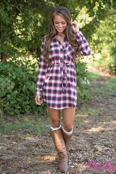 From the wonderfully soft material to the gorgeous plaid, we know you're going to fall in love with this sweet dress!