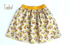 mina dotter: Skirt Week 2013 tutorial: a simple gathered or pleated skirt on elastic waistband Girls Dresses Sewing, Sewing Clothes, Gathered Skirt, Pleated Skirt, Adobe Photoshop, Photoshop Tutorial, Skirts For Kids, Skirt Tutorial, Couture