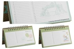 Stamp & bind your own birthday calendar.   The PDF of the inside pages is naturally in German (German blog after all) but that adds to the style don't you think? Leipzig stempelt - mit Stampin' Up!®: Geburtstagskalender mit Druckvorlage
