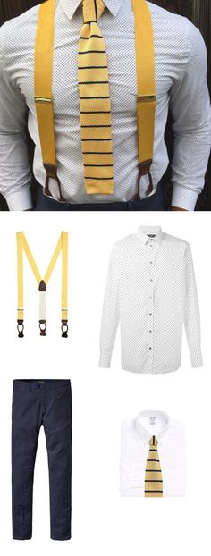 Look of The Week: Suspenders and Knit Ties