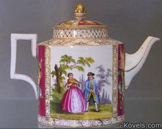 Meissen porcelain hand painted and giltnteapot, Germany late 19th Cent.