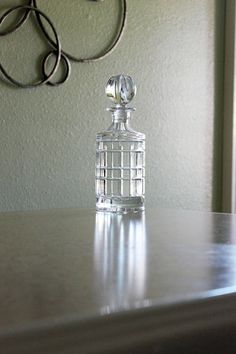 Crystal Decanter Heavy Cut Crystal Made in Poland 24% Lead