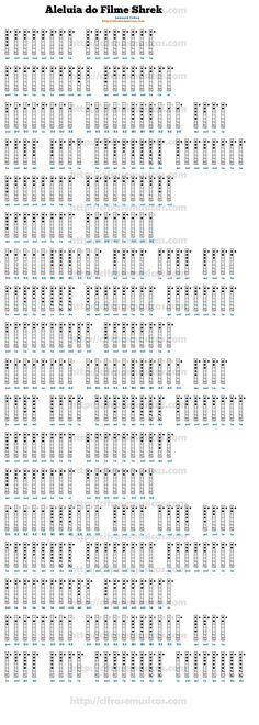 Cifra Aleluia do Filme Shrek - Leonard Cohen para Flauta Doce Shrek, Piano Music, Sheet Music, Tin Whistle, Flautas, Leonard Cohen, Ukulele, Album, Math