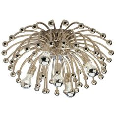 Anemone Flushmount-Sconce by Robert Abbey  Large Fixture: Height 11.62 In., Diameter 23.5 In  Small Fixture: Diameter 13 In., Height 6.25 In  $191.40 - $552.20