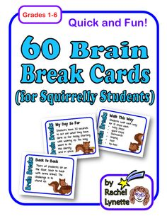 Brain Break Cards your Students will Love!