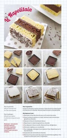 [ Napolitain maison Homemade Neapolitan recipe for children's snacks – step-by-step photo technique Sweet Recipes, Cake Recipes, Dessert Recipes, Food Tags, Technique Photo, Kids Meals, Delicious Desserts, Food And Drink, Decorated Cookies