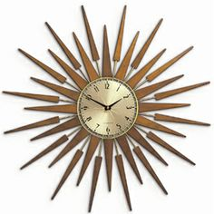 And to finish off the living room redo: a retro sunburst clock.