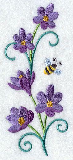 Crocus and Bumblebee Spray