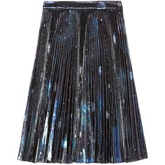 Marc by Marc Jacobs Stargazer pleated metallic organza skirt (1,900 PEN) ❤ liked on Polyvore featuring skirts, black, knee high skirts, metallic pleated skirt, knee length skirts, pleated skirt and colorful skirts