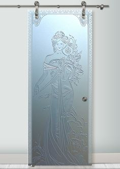Don't choose an ordinary glass barn door; choose a work of art with San Soucie's art glass barn doors. Learn about our sliding glass barn doors for your home. Balcony Glass Design, Sliding Glass Barn Doors, Etched Glass Door, Art Deco Borders, Glass Painting Designs, Glass Partition, Wave Pattern, Interior Barn Doors, Window Coverings