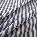 Stoff Streifen - Stoff Baumwolle marine blau weiß Streifen 1 cm NEU - ein Designerstück von werthers-stoffe bei DaWanda --> Stoff für Vorhänge