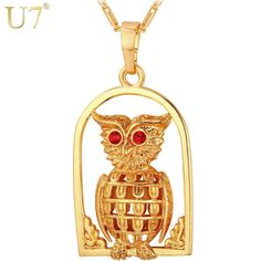 Now on sale in our store:U7 Vintage Owl Ne... Check it out here! http://glowvatechvintage.com/products/u7-vintage-owl-necklace-women-jewelry-gold-silver-color-fashion-jewelry-owl-pendant-wholesale-p634?utm_campaign=social_autopilot&utm_source=pin&utm_medium=pin