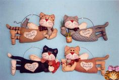 A NET... TEM TUDO DE BOM!...kitty angels..  I love the kitty garden angel...it would be cute watching my garden! ...beautiful crafting!! Pictures of templates at source