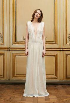 Delphine Collin - Creador de vestidos de novia de París: Boda Vestidos Primavera Verano 2015 - Pagan novia Campaña - Delphine Manivet