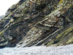 Folded strata rock formations