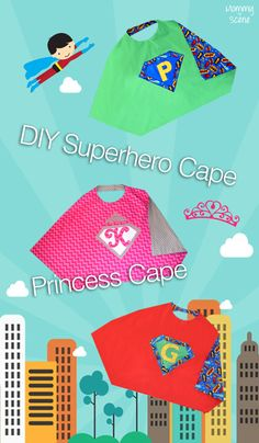 Easily make kids' superhero capes with our simple pattern - Mommy Scene