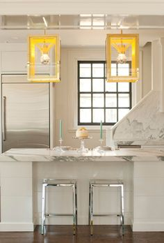 UECo - Portfolio - Environment - Kitchen Introduce colour with funky light fixtures