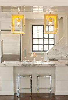UECo - Portfolio - Environment - Kitchen Introduce colour with funky light fixtures