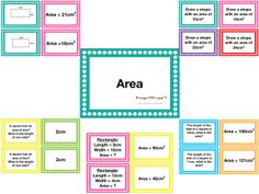 Area and Perimeter – Irish Primary Teacher Maths Resources, Math Activities, Area And Perimeter, Math Lessons, Small Groups, Irish, Teacher, Writing, This Or That Questions