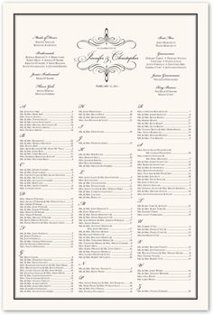 Blackandwhitewedding wedding seating chart seating for Dinner seating plan template