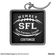Sofa Football League Keychain Sofa Shop, Anniversary Quotes, Personal Shopping, Custom Buttons, Love Messages, Key Chains, Hand Sanitizer, Portal, Keep It Cleaner