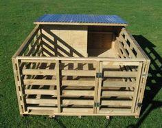 Pig House ~ or goat pen Cabras Boer, Pig Shelter, Goat Pen, Goat House, Pig Pen, Pig Farming, Mini Pigs, Pet Pigs, Farms Living