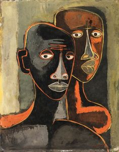 View La pareja by Oswaldo Guayasamín on artnet. Browse upcoming and past auction lots by Oswaldo Guayasamín. Abstract Portrait, Portrait Art, Arte Latina, Art Visage, Afrique Art, Figurative Art, American Art, Art Inspo, Painting & Drawing