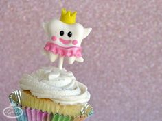 Tooth Fairy Fondant Cupcake Topper by craftsy cuties!