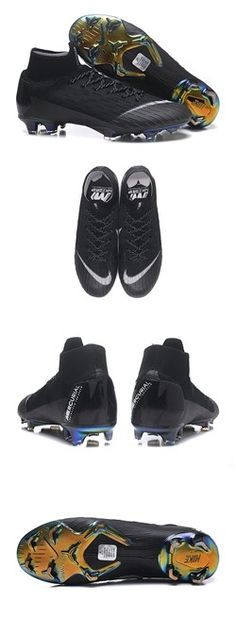 san francisco 173b2 5c6c6 Nike Mercurial Superfly VI 360 Elite FG Top Cleats - Black White