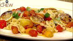 Fabio Viviani's Fettucini with Roasted Lemon, Tomato and Parmesan recipe. #thechew