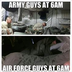 I laughed at this forgive me.and that's partly why I chose to join the Air Force over any other ;) >>> this strongly encourages my desire to join the Air Force. Huge impact, I tell you. Army Jokes, Military Jokes, Army Humor, Military Wife, Marine Humor, Air Force Humor, Military Relationships, Civil Air Patrol, Army Men