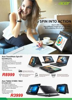 Acer TravelMate Spin Laptops