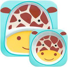 Skip Hop Zoo Melamine Plate and Bowl Set - Unicorn - Free Shipping