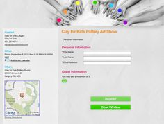 Using EventSpot's map feature, helps students and parents find the studios. Contact Email, Build Your Brand, Pottery Art, Email Marketing, Studios, Parents, Map, Dads, Location Map