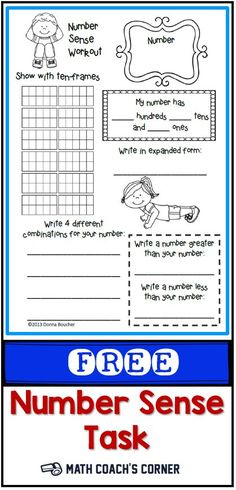 Grab this FREE task for representing numbers! Differentiate by changing the target number.
