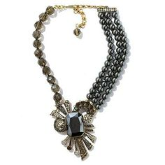 "Heidi Daus ""French Ribbon"" Crystal Drop Necklace"