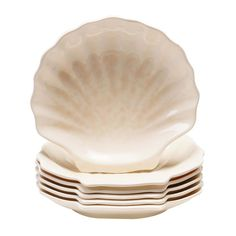 Because these plates are crafted from melamine, they are perfect for serving guests outdoors.   $38 for a set of six