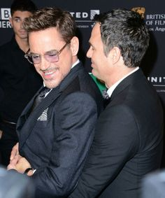 Robert Downey Jr. and Mark Ruffalo at the 2014 BAFTA L.A. Britannia Awards, at which they were both honored.