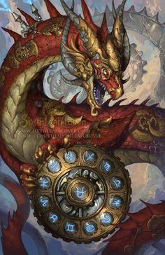 Art by Sixthleafclover-2015 Zodiac Dragons - Front Cover (clean)-Ophiuchus!