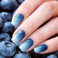 18 Beautiful Ombre Nail Design Ideas : 18 Beautiful Ombre Nail Design Ideas - The Trend Spotter Paint your fingertips with the coolest ombre nail designs to instantly graduate your look from basic to brilliant. Orange Ombre Nails, Blue Nails, Ombre Nail Art, Periwinkle Nails, Ombre Nail Colors, Gold Nails, Ombre Nail Designs, Acrylic Nail Designs, Light Blue Nail Designs