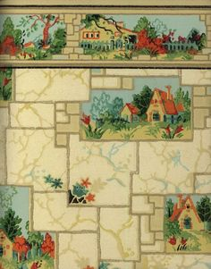 Ward's Washable Wallpaper, 1935.  Montgomery Ward & Co. From the Collection of the Winterthur Museum Library.