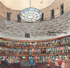 Stockholm Public Library | por nina drawing