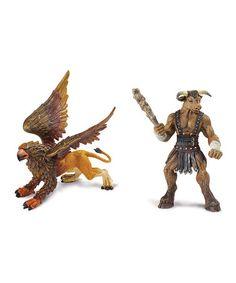 This Griffin & Minotaur Figurine Set by Safari Ltd. is perfect! #zulilyfinds